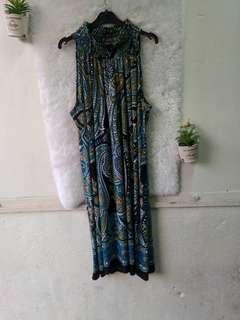 Aztec Sleeveless Turtle Neck Dress