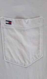 Tommy hilfiger white small logo imbroid