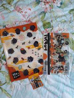 Haikyuu! Karasuno Bookmarks & Clear File