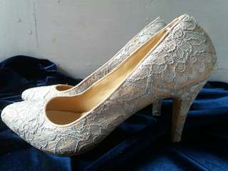 Ice Blue Lace Shoes