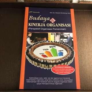 Budaya Kinerja Organisasi