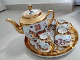 🚚 Vintage Chinese Teapot Set