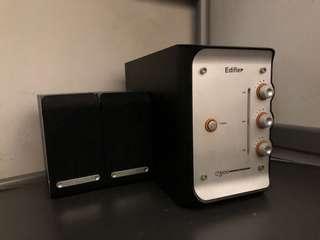 Edifier 2.1 speaker e3100 漫步者 喇叭