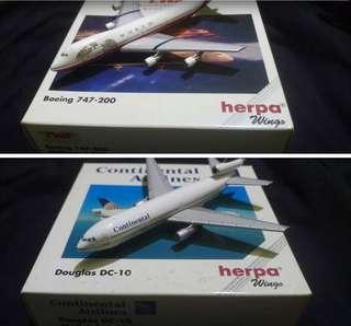 Herpa 1:500 二手飛機模型