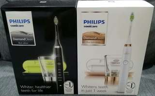 Philips sonicare diamondclean toothbrush (rose gold / black)                                                                                              Free delivery with t&c apply