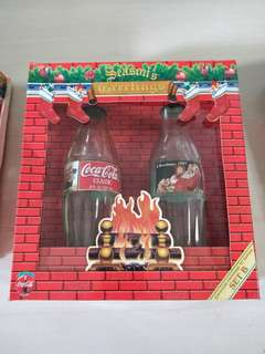 🚚 Christmas Vintage Coca Cola classic Gift Set (glass bottles)