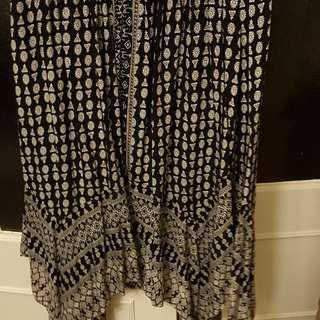 Dotti Black and White Midi Skirt