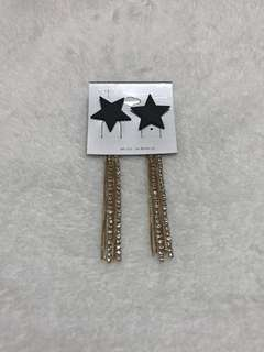 🚚 正韓 星星水鑽耳環