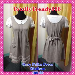 Gray Polka Dress