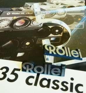 罕有绝版 :那些年德國Rollei 菲林相机商標 2個 (歲月珍藏品)