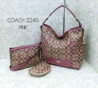 Coach Hobo Bags 3 in 1 Pink Color