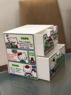 Vintage 1976 Hello Kitty Sanrio Japan Trinket Jewelry Box