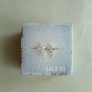 Authentic 925 Italy silver stud cross earrings