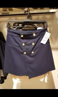 Rok zara original navy