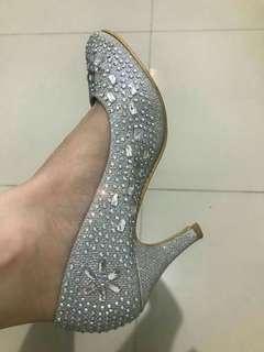 Sepatu heels bling