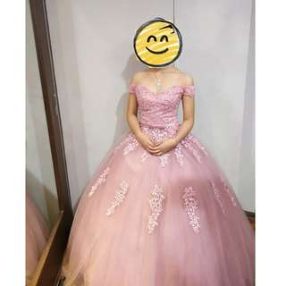 BALLGOWN FOR RENT (COLOR: OLD ROSE)