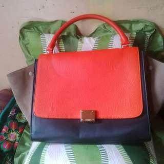 Celine Trapeze Tricolor Bag