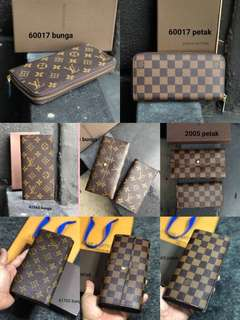 LV Coach Blueberry Wallet