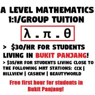 H2/H1 Maths Tuition