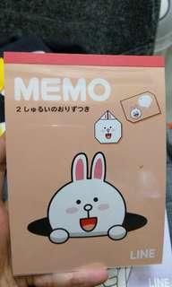 Memo line character cony james