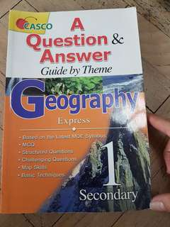 (4 for $10) Casco Geography Express Sec 1