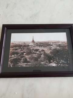 🚚 Old Yangon picture framed