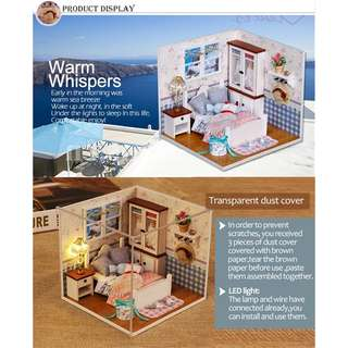 Doll House Diy Miniature Wooden Puzzle Dollhouse Furniture Craft Toy Gift Box