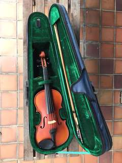 3/4 Violin (matte) & Bow