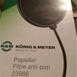 ★★ K&M Pop Killer 23966 Double Layer Pop Filter Black  ★★