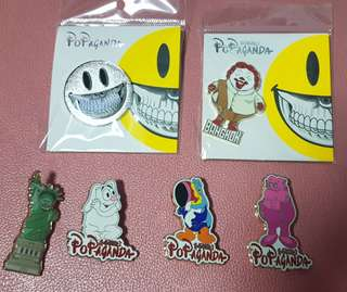 Ron English Popaganda pins