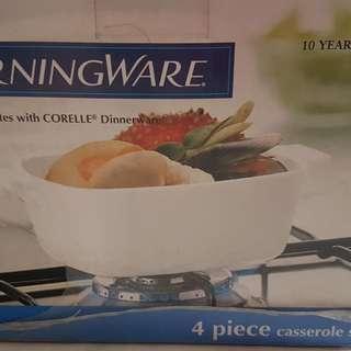 Corningware 4 piece Casserole Set