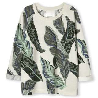 Country Road leaf print pullover jumper