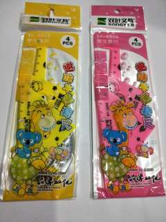 Cartoon rulers set