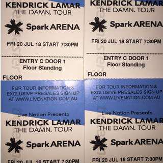 Kendrick Lamar GA tickets x4 Friday 20th July Auckland