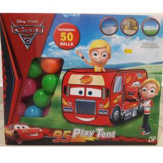 CARS 3 Play Tent (Inclusion 50 balls)