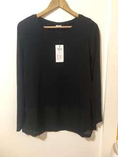 JACQUELINE DE YONG | Long sleeve jersey black