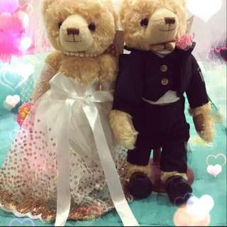 Wedding bear for car decoration