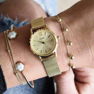 LA VEDETTE MESH FULL GOLD 荷蘭錶金屬錶帶 24 mm 預購