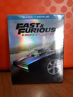 USA Blu Ray - Fast & Furious 1 - 8 (8 Discs)