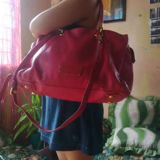 Marc by Marc Jacobs  Too Hot To Handle Fuchsia Pebbled Leather