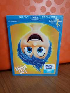 USA Blu Ray - Inside Out (Walmart + Collectible Pin / Disney Pixar)