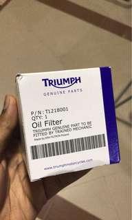 Triumph oil filter (T1218001)
