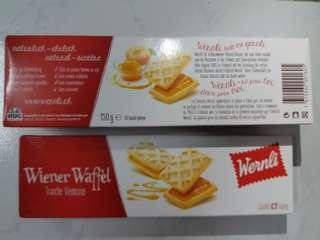瑞士入口wernli 桃味夾心牛油窝夫餅