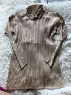 Pleats please By Issey Miyake Beige  Top