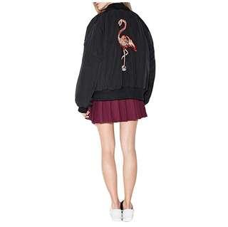 Embroidery Bomber Jacket Flaminggo