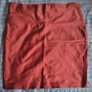 FOREVER21 SKIRT BANDAGE SILKY RED