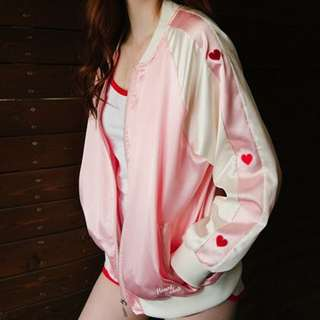 mixxmix inspired pink jacket