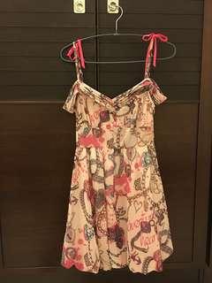 🚚 粉紅圖紋洋裝