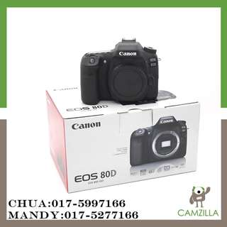 USED CANON 80D BODY