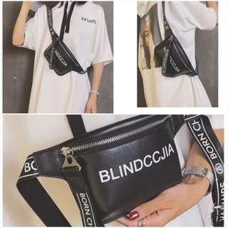 Pop Chic Metalic Laser Cloth Sling Shoulder Bag